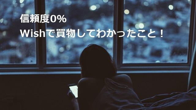 信頼度0% Wishで買物